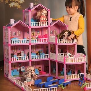 Lâu Đài Công Chúa Mô Hình Biệt Thự Mô Phỏng Đồ Chơi Cho Bé Gái Barbie Phù Hợp Với Ngôi Nhà Búp Bê Trẻ Em Chơi Món Quà Si