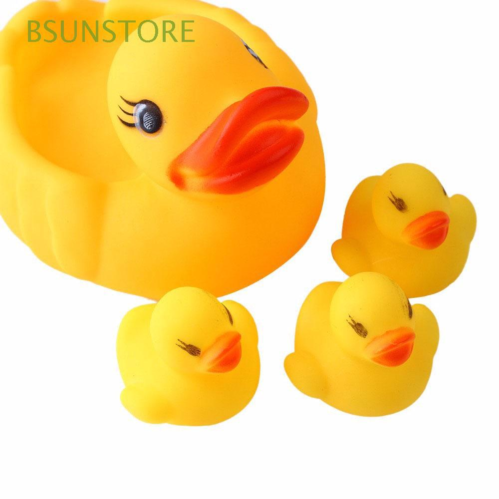 BSUNSTORE 4 Pcs/lot Soft Rattle Animal Cute Classic Bathing Toys