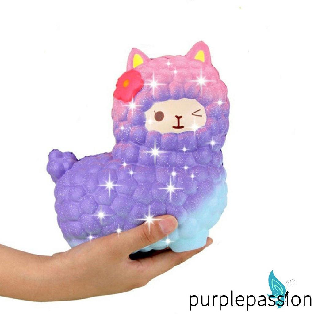 SOO-Stretchy Animals Jumbo Squishy Alpaca Scented Slow Rising Squeeze Toys Pressure Relief