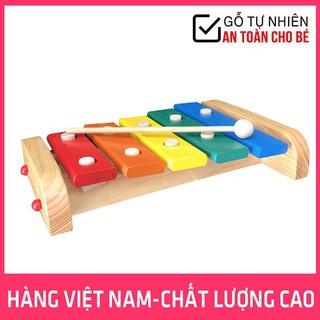 Đàn Xylophone 5 Thanh Loại To Bằng Gỗ Bé Cảm Nhận Âm Nhạc Hàng Việt Nam