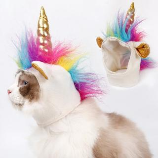 ❣❣Lovely Cute Design Soft Felt Cats Pet Colorful Horse Design Cat Cosplay Hat