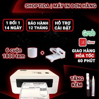 Máy in nhiệt Shoptida SP46 in đơn hàng TMĐT kèm khay và 1800 tem in nhiệt decal 7x10cm in đơn hàng, tem phụ, barcode thumbnail