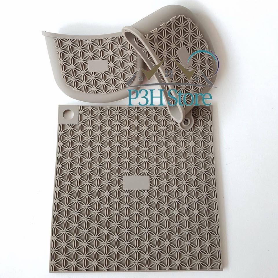 Bộ 1 miếng lót nồi và găng tay Silicone Lock&Lock LLT026