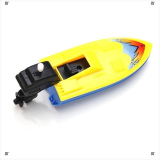 JS*1 1 Summer Outdoor Pool Ship Toy Wind Up Swimming Motorboat Boat Toy For Kid