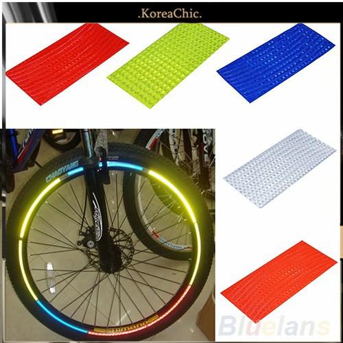 Miếng dán vành bánh xe đạp màu phản quang an toàn khi lái xe