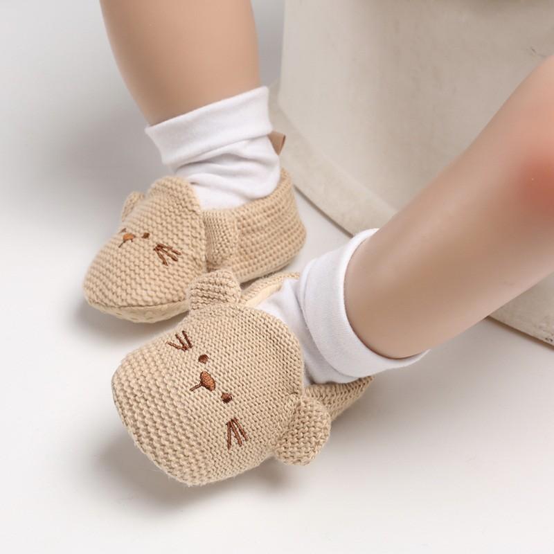 [NHẬP KIDTET hoàn 15% xu đơn 150k] Giày tập đi mềm mại họa tiết hình chuột đáng yêu cho bé