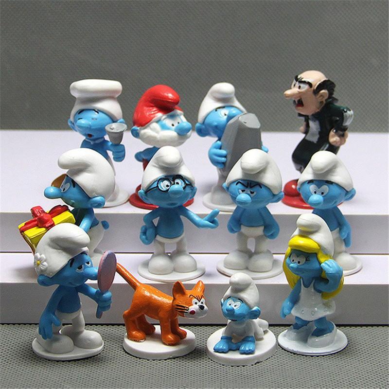 Set 12 đồ chơi mô hình nhân vật Xì trum