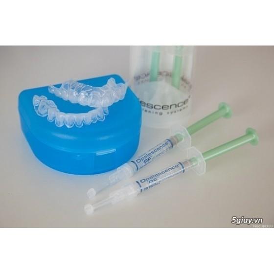 Combo 1tuýp 20%+ +1 tuyp 35%+1 máng tẩy trắng răng Opalescence MỸ