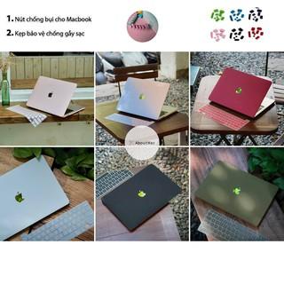 COMBO 5in1 Case, Ốp + Phủ phím cho Macbook ( Tặng Kèm Nút Chống Bụi + Bộ kẹp chống gãy sạc )