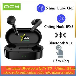 Tai nghe Bluetooth True Wireless QCY T3 - Tai nghe không dây QCY T3 chống nước IPX5 dòng QCY chính hãng