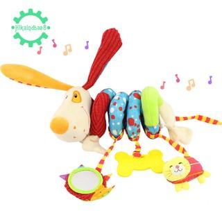 🌟HAPPY MONKEY Newborn Soft Plush Toy Crib Hanging Toy Puppy Shape
