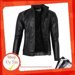Áo khoác da lót lông nam thời trang cao cấp pious AKD021 hàng VNXK Liên hệ mua hàng 084.209.1989