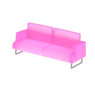 Barbie New Deluxe Pink Sofa Chair Sofa Toy Plastic Sofa Chair