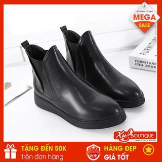 (Lẻ Size 38 SALE 149k) - Giày Boot Nữ Cổ Thấp Đế Bằng Dáng Công Sở Basic Hàn Quốc 2019 - Chất Da Mờ Êm Chân BT052