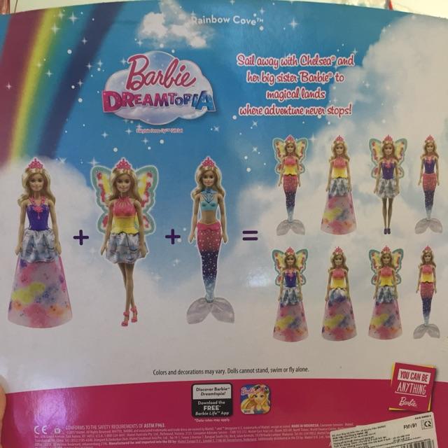 Bộ búp bê Barbie tiên cá Dreamtopia18 kiểu - chính hãng 100%