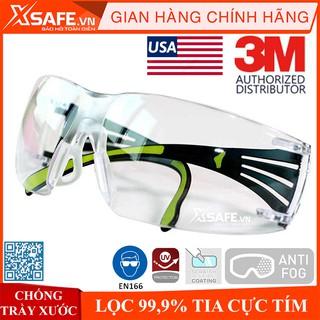 Kính bảo hộ 3M SF401AF kính chống bụi chống tia UV chống đọng sương chống trầy xước (màu trắng)