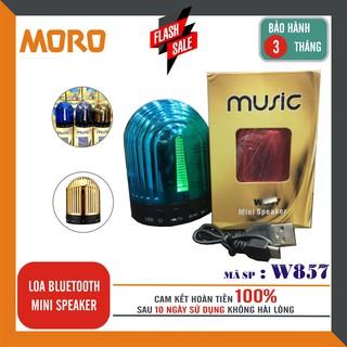 [Mã ELFLASH5 giảm 20K đơn 50K] Loa bluetooth mini W857 – âm thanh hay - LED đổi màu theo nhạc (Hàng nhập khẩu)