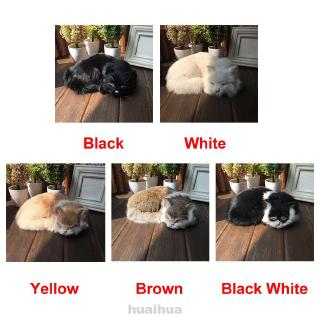 Sleeping Animal Artificial Leather Ornament Office Toy Kids Soft Photography Prop Birthday Simulation Cat