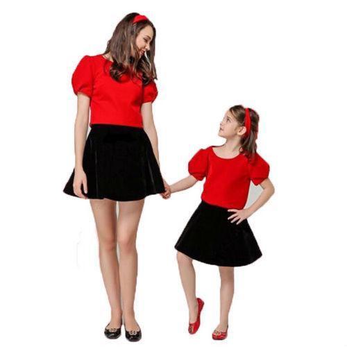 1107564837 - combo 2 chân váy xòe cho mẹ và bé