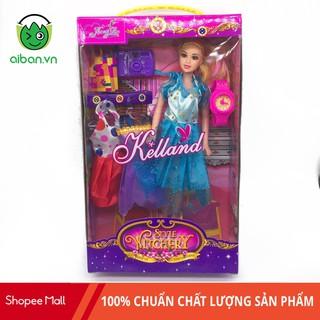 Búp Bê Barbie Khớp + Váy + Đồng Hồ + Túi Xách + Máy Ảnh