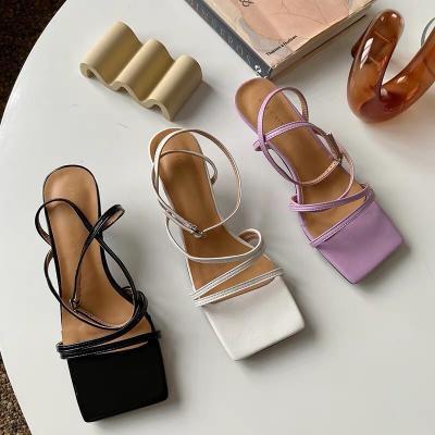 Cao gót sandal dây chéo mảnh gót 5cm - SD-0268