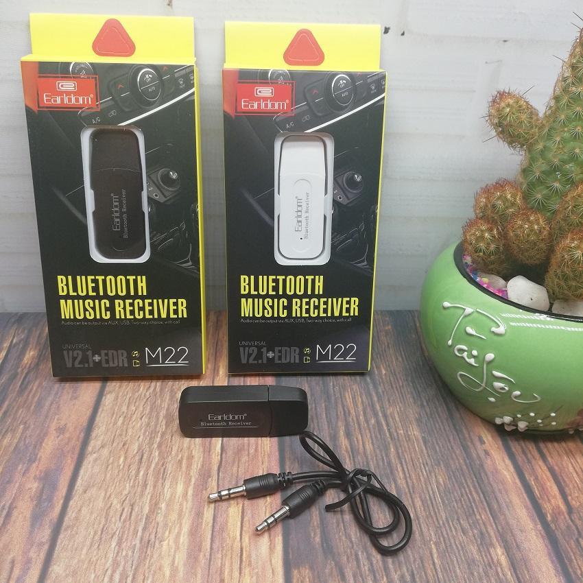 Đầu thu USB bluetooth music receiver tạo kết nối âm thanh Earldom M22 Bảo hành 6 tháng lỗi đổi mới -