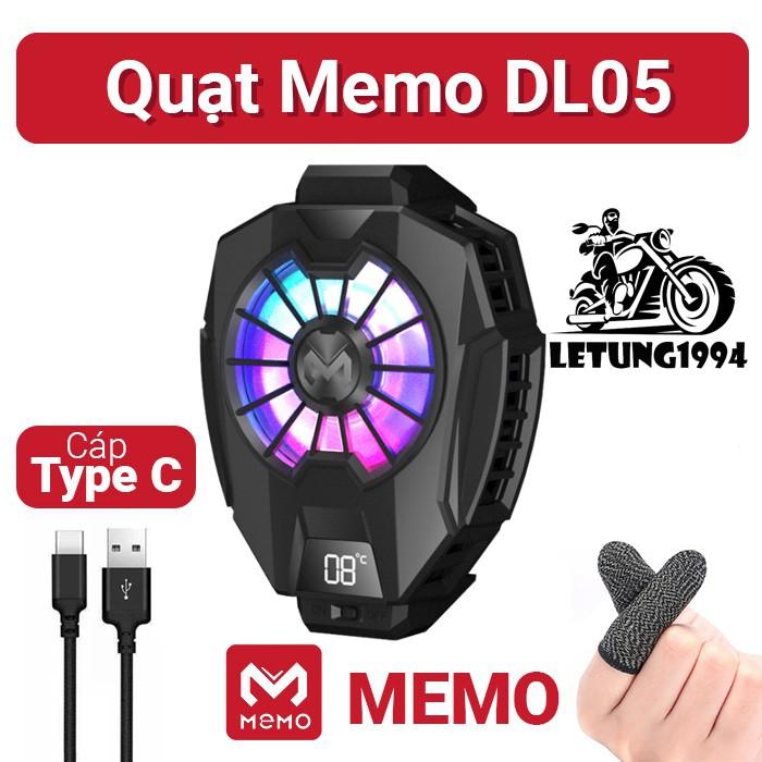 MEMO DL05 | QUẠT TẢN NHIỆT SÒ LẠNH cho điện thoại, Màn hình LED hiển thị nhiệt độ, LED RGB giá rẻ nhất