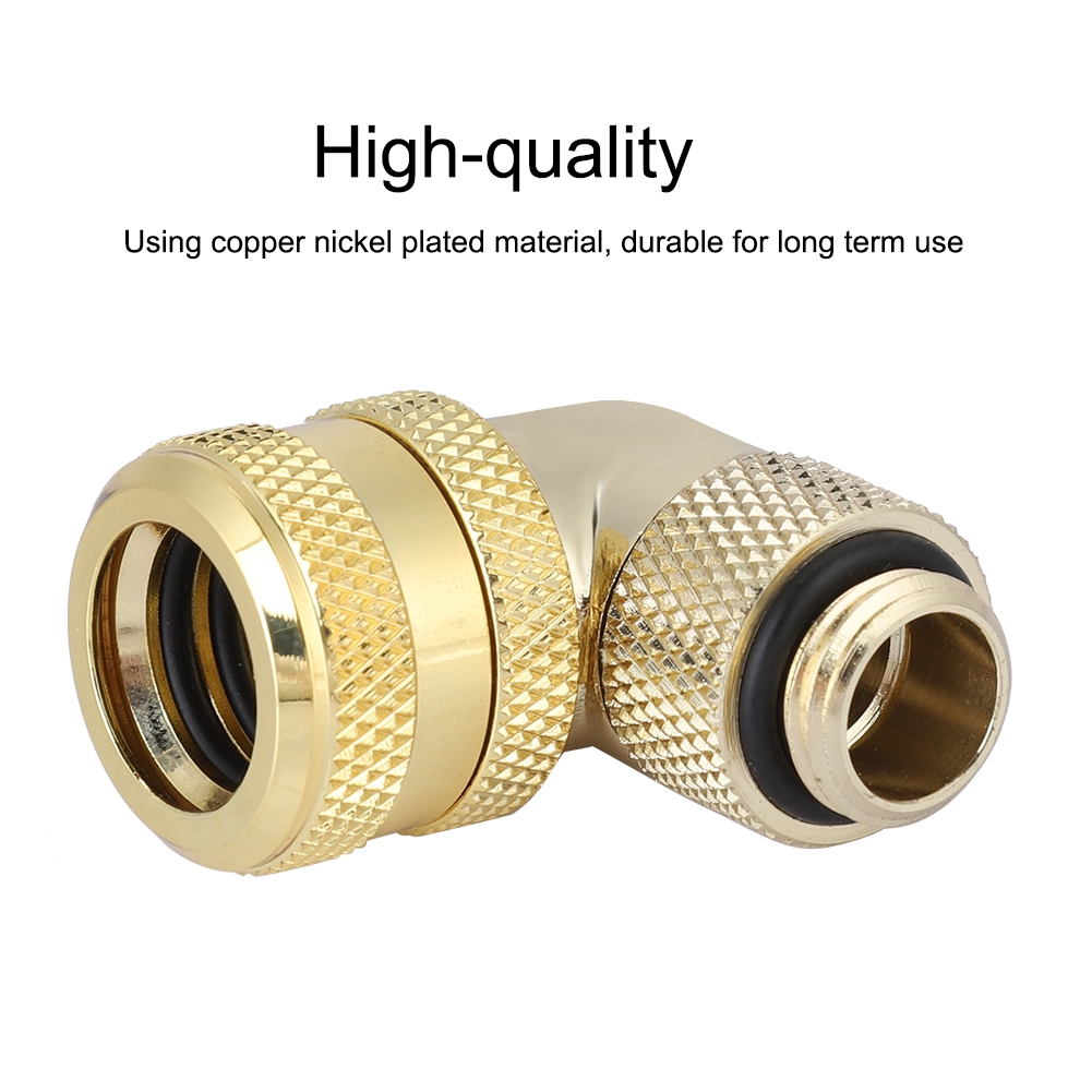 G1/4 Thread Water Cooling Fitting 90° Rotary Elbow Connector for 10x14 Hard Tube