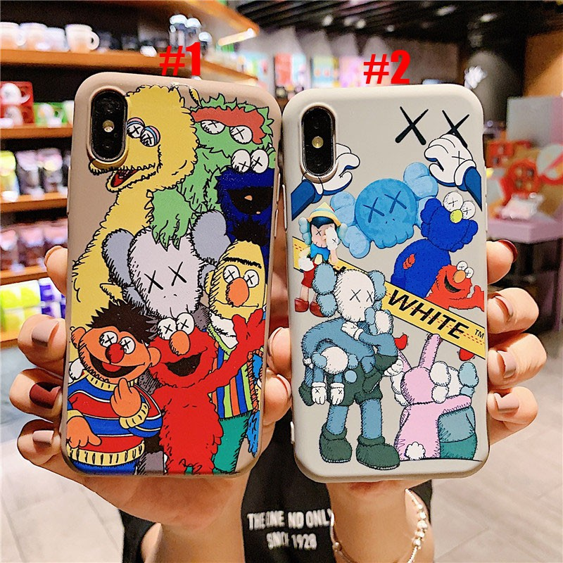 iPhone 7 8 Plus 6 6S Plus XR XS Max Violent Bear Sesame Street Phone Cases iPhone Cover Case
