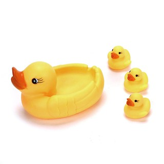 Mummy & Baby Rubber Race Squeaky Ducks Family Bath Toy Kid Game Toys
