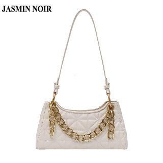 Túi xách JASMIN NOIR thiết kế dạng kẻ sọc trang trí chuỗi xích đơn giản sành điệu hợp thời trang