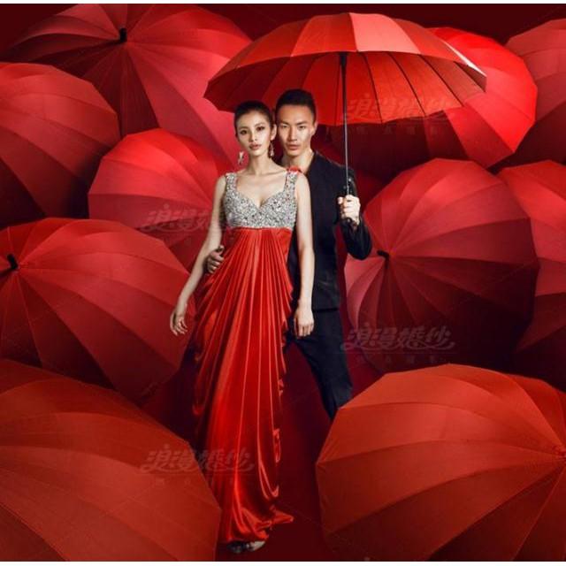 ร่มยาวก้านถ่ายภาพงานแต่งงานอุปกรณ์ประกอบฉากการถ่ายภาพ