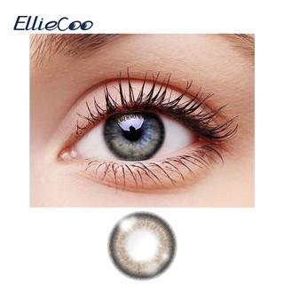 Bộ 2 cái cặp kính áp tròng EllieCoo màu xám tự nhiên giúp tạo đôi mắt to thumbnail