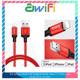 Dây cáp sạc Hoco X14 Lightning cho iPhone, iPad Cáp Tai nghe ốp Airpod – Awifi Case H4-7