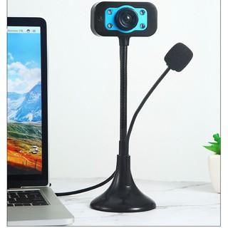 (Bảo hành 06 tháng) Webcam Chân Cao có mic dùng cho máy tính có tích hợp mic và đèn Led trợ sáng – Webcam máy tính để bà