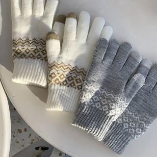 Găng tay len giữ ấm có thể cảm ứng màn hình thoải mái cho cả nam và nữ