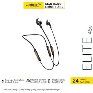 [Mã ELMALL300 giảm 7% đơn 500K] Tai Nghe Không Dây, Bluetooth Nhét Tai Thể Thao Jabra Elite 45E - Hàng Chính Hãng