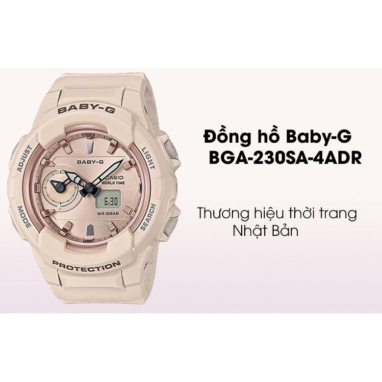 Đồng Hồ Casio Nữ Dây Cao Su BABY-G BGA-230SA-4A Chính Hãng