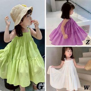 Đầm hai dây thời trang Hàn Quốc cho trẻ em