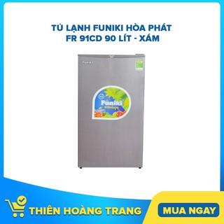 [ELHAC7 Giảm 7% Tối Đa 300K] Tủ lạnh mini Funiki Hòa Phát FR 91CD 90 lít – xám – Chỉ giao khu vực HCM