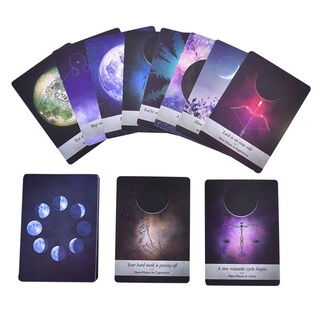 TREND Tarot Cards Moonology Oracle Cards Deck Party Game Guidebook English