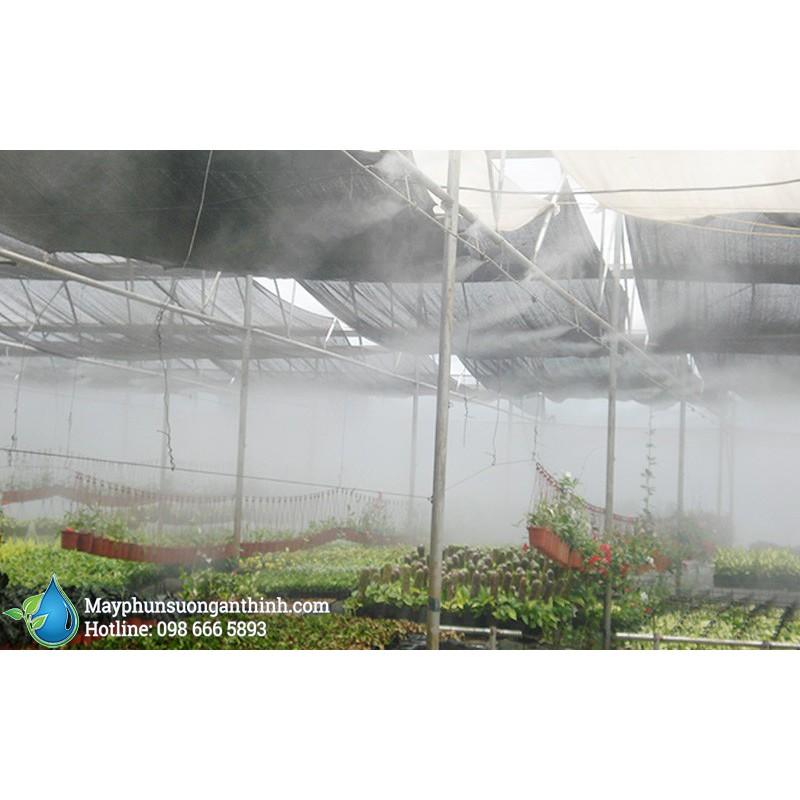 Bộ phun sương làm mát không khí, Phun sương tạo ẩm 5-10-15 béc đồng số 2, béc Inox số 3 [KHÔNG BẢO HÀNH]