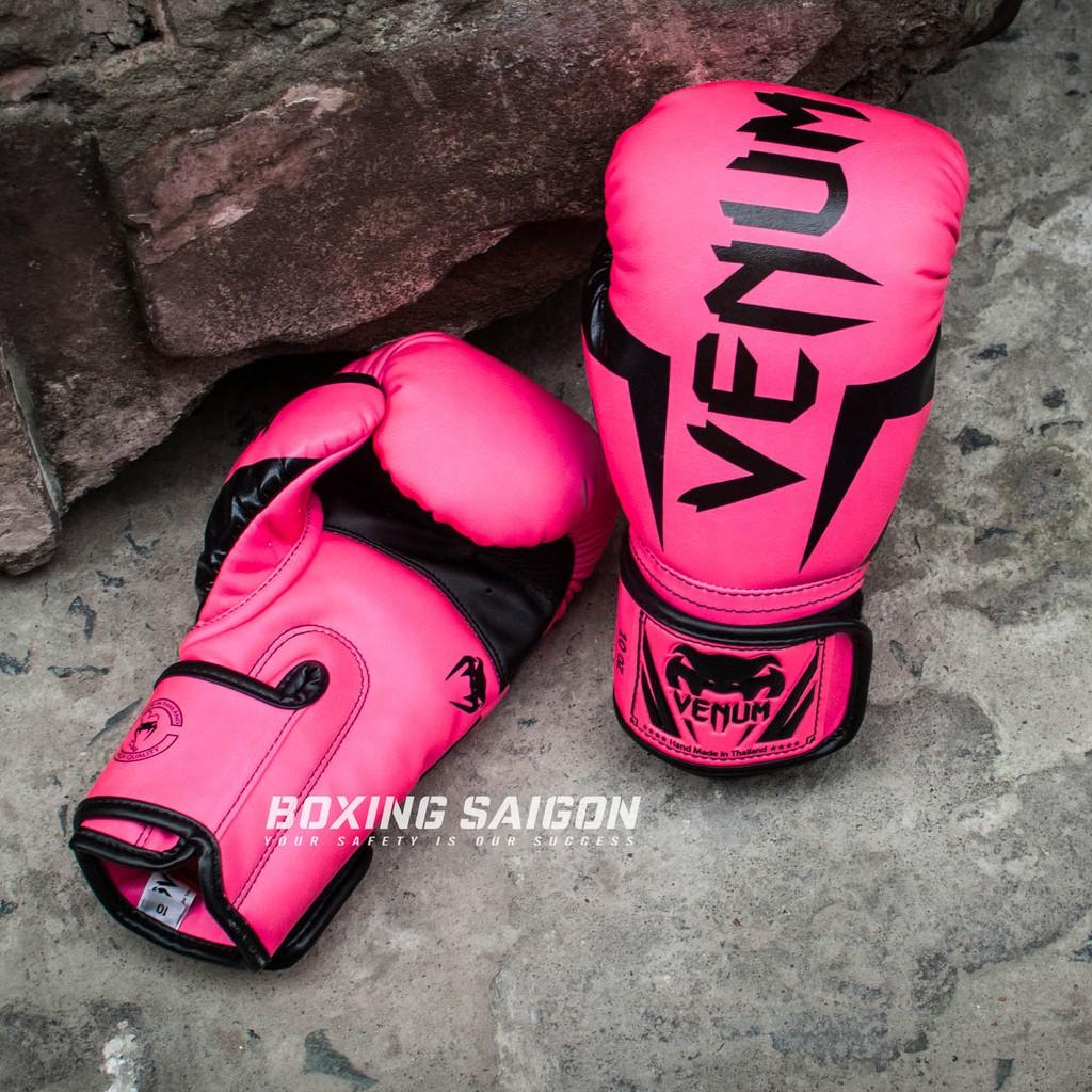 Găng tay boxing Venum Elite chính hãng - Pink
