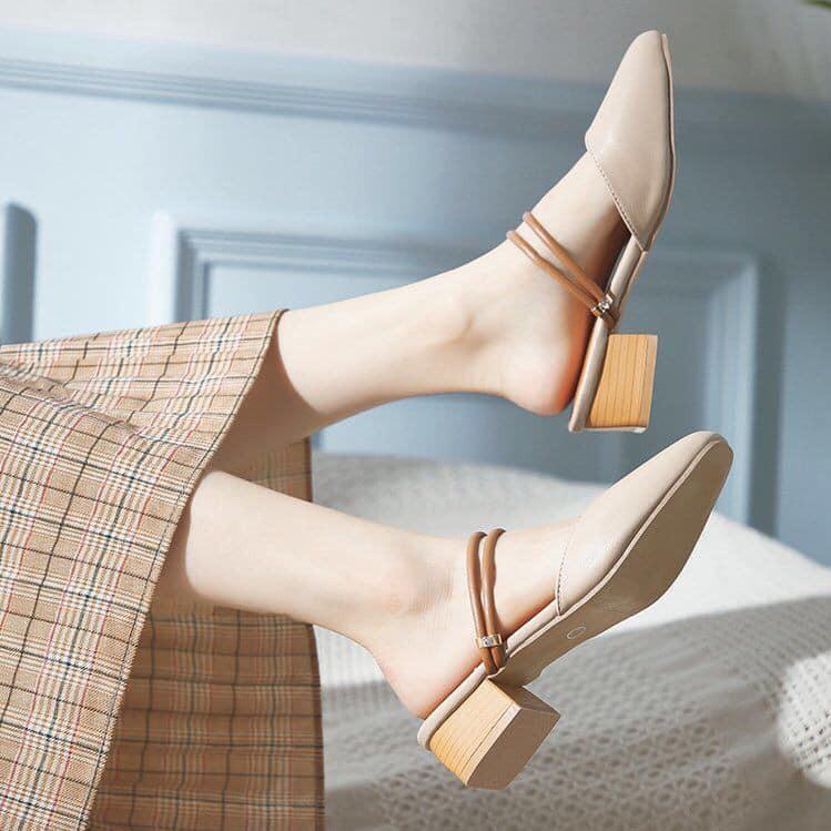 Sandal vintage đi được 2 kiểu