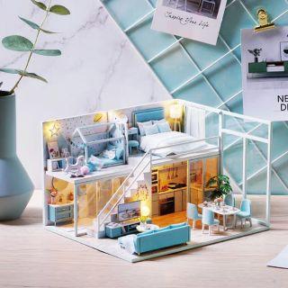 Kèm Mica – Mô hình nhà gỗ búp bê Dollhouse DIY – L028 Poetic Life