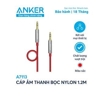 Cáp âm thanh bọc nylon ANKER 3.5mm dài 1.2m - A7113