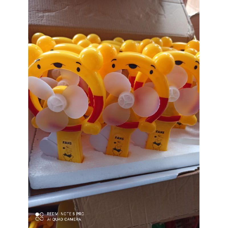 vỉ bấn quạt hình gấu rẻ thương hộp 12 cái