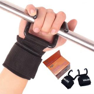 Găng tay tập xà đơn Valeo có móc sắt giúp bạn đu hít xà  lâu hơn giảm đau lưng,  bao tay có móc tâp gym đa năng