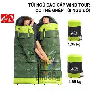 Yêu Thích[FRSHIP 70K] Túi ngủ cao cấp Wind Tour 1,3 - 1,6kg ghép túi ngủ đôi văn phòng du lịch cắm trại- [MUÔN PHƯƠNG SHOP]