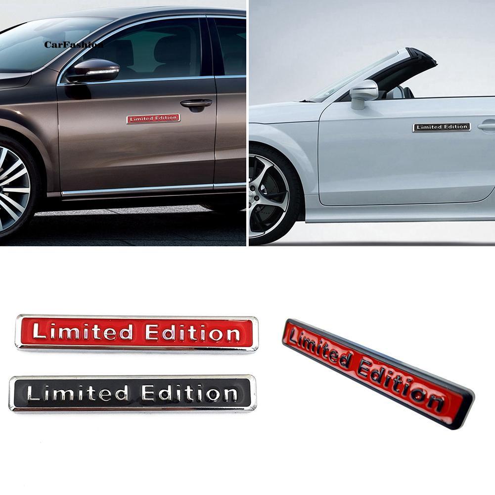 """Miếng dán Logo kim loại họa tiết chữ """" Limited Edition """" trang trí xe ô tô"""
